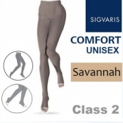 Sigvaris Unisex Comfort Class 2 (RAL) Savannah Compression Tights with Open Toe