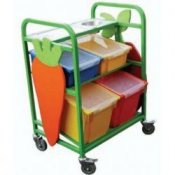 Compact School Canteen Fruit Storage & Serving Trolley