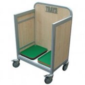 School Canteen Tray Storage & Collection Trolley