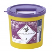 Sharpsguard Cyto 2.5L Sharps Container (Case of 48)