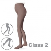 Sigvaris Cotton Class 2 Black Maternity Compression Tights