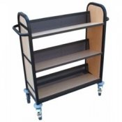 Single Sided Mobile Library Book Storage Trolley