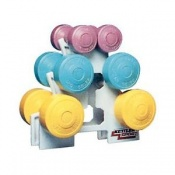 Six-Piece Dumbbell Set with Stand