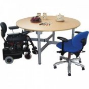 SKM Easywind Four-Leg Circular Group Table