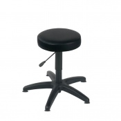 Sunflower Medical Black Gas-Lift Stool with Glides