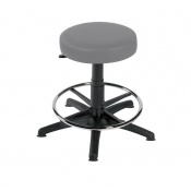 Sunflower Medical Grey Gas-Lift Stool with Foot Ring and Glides