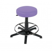 Sunflower Medical Lilac Gas-Lift Stool with Foot Ring and Glides