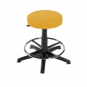 Sunflower Medical Primrose Gas-Lift Stool with Foot Ring and Glides