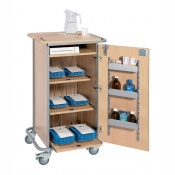 Sunflower Medical 6 Rack Monitored Dosage System Administration Trolley