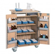Sunflower Medical 9 Rack Monitored Dosage System Administration Trolley