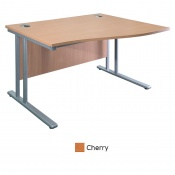 Sunflower Medical Cherry 120cm Wide Right Hand Wave Desk