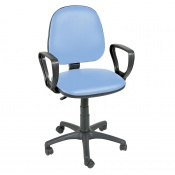 Sunflower Medical Cool Blue Gas-Lift Chair with Arm Rests