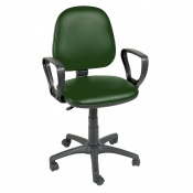 Sunflower Medical Green Gas-Lift Chair with Arm Rests