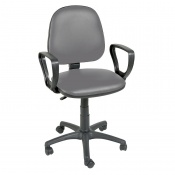 Sunflower Medical Grey Gas-Lift Chair with Arm Rests