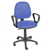 Sunflower Medical Mid Blue Gas-Lift Chair with Arm Rests