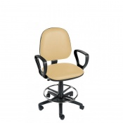 Sunflower Medical Beige Gas-Lift Chair with Foot Ring and Arm Rests