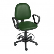 Sunflower Medical Green Gas-Lift Chair with Foot Ring and Arm Rests