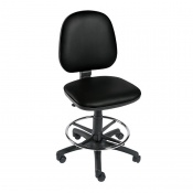 Sunflower Medical Black Gas-Lift Chair with Foot Ring