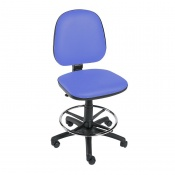 Sunflower Medical Mid Blue Gas-Lift Chair with Foot Ring