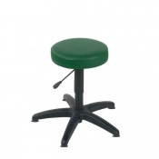 Sunflower Medical Green Gas-Lift Stool with Glides