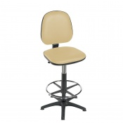 Sunflower Medical High-Level Beige Gas-Lift Chair with Foot Ring and Glides