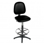 Sunflower Medical High-Level Black Gas-Lift Chair with Foot Ring and Glides