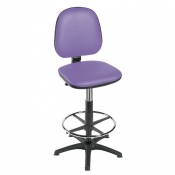 Sunflower Medical High-Level Lilac Gas-Lift Chair with Foot Ring and Glides