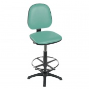 Sunflower Medical High-Level Mint Gas-Lift Chair with Foot Ring and Glides