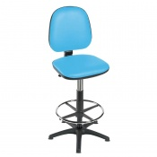 Sunflower Medical High-Level Sky Blue Gas-Lift Chair with Foot Ring and Glides