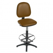Sunflower Medical High-Level Walnut Gas-Lift Chair with Foot Ring and Glides