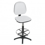 Sunflower Medical High-Level White Gas-Lift Chair with Foot Ring and Glides