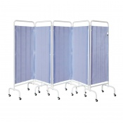 Sunflower Medical Summer Blue Mobile Five-Panel Folding Hospital Ward Curtained Screen