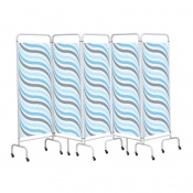 Sunflower Medical Waves Mobile Five-Panel Folding Hospital Ward Screen