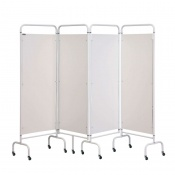 Sunflower Medical White Mobile Four-Panel Folding Hospital Ward Screen