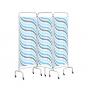 Sunflower Medical Waves Mobile Three-Panel Folding Hospital Ward Screen