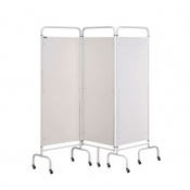Sunflower Medical White Mobile Three-Panel Folding Hospital Ward Screen