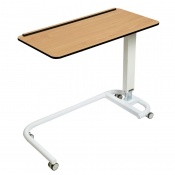 Sunflower Medical Beech Over Bed Table with C-Shaped Base and Compact Grade Laminate Flat Top