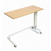 Sunflower Medical Beech Over Bed Table with C-Shaped Base and MFC Flat Top