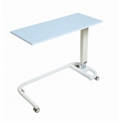 Sunflower Medical Blue Over Bed Table with C-Shaped Base and MFC Flat Top