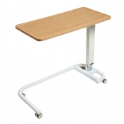 Sunflower Medical Beech Over Bed Table with C-Shaped Base and Recessed High Impact PVC Flat Top