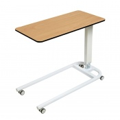 Sunflower Medical Beech Over Bed Table with Parallel Base and Compact Grade Laminate Flat Top