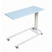 Sunflower Medical Blue Over Bed Table with Parallel Base and MFC Flat Top
