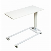 Sunflower Medical White Over Bed Table with Parallel Base and MFC Flat Top