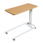 Sunflower Medical Beech Over Bed Table with Parallel Base and Recessed High Impact PVC Flat Top