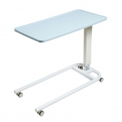 Sunflower Medical Blue Over Bed Table with Parallel Base and Recessed High Impact PVC Flat Top