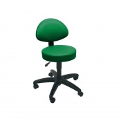 Sunflower Medical Green Gas-Lift Stool with Back Rest
