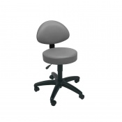 Sunflower Medical Grey Gas-Lift Stool with Back Rest