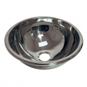 Sunflower Medical HTM 64-Compliant Stainless Steel Hemispherical Inset Bowl with Bottle Trap and Waste Kit