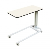 Sunflower Medical White Over Bed Table with Parallel Base and Compact Grade Laminate Flat Top