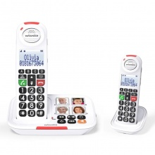 Swissvoice Xtra 2155 Duo Amplified Cordless Telephone with Extra Handset